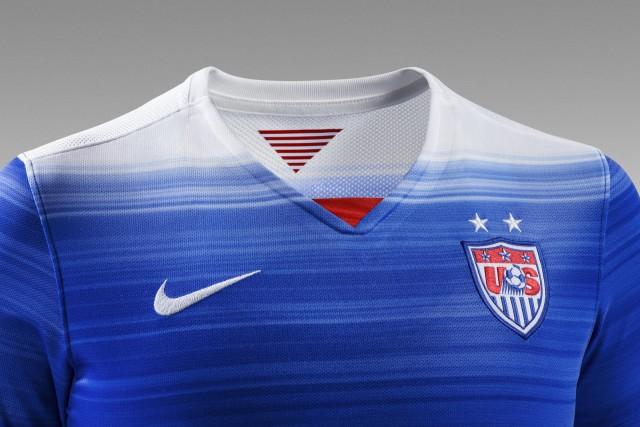United States Blue 2015 Nike Away Soccer Jersey, Kit, Shirt, Uniform, USA, US Soccer, Camista de Futbol