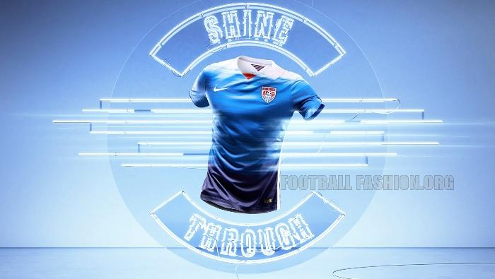 United States Blue 2015 Nike Away Soccer Jersey, Kit, Shirt, Uniform, USA, US Soccer, Camiseta de Futbol