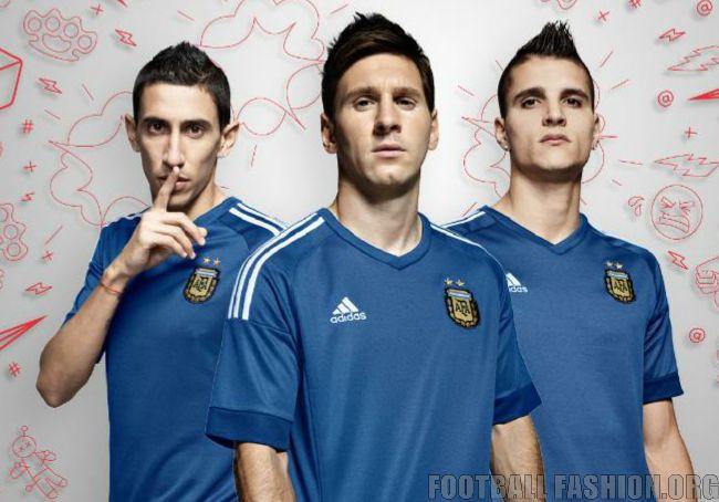 3d34592dea Argentina 2015 Copa America adidas Away Jersey – FOOTBALL FASHION.ORG