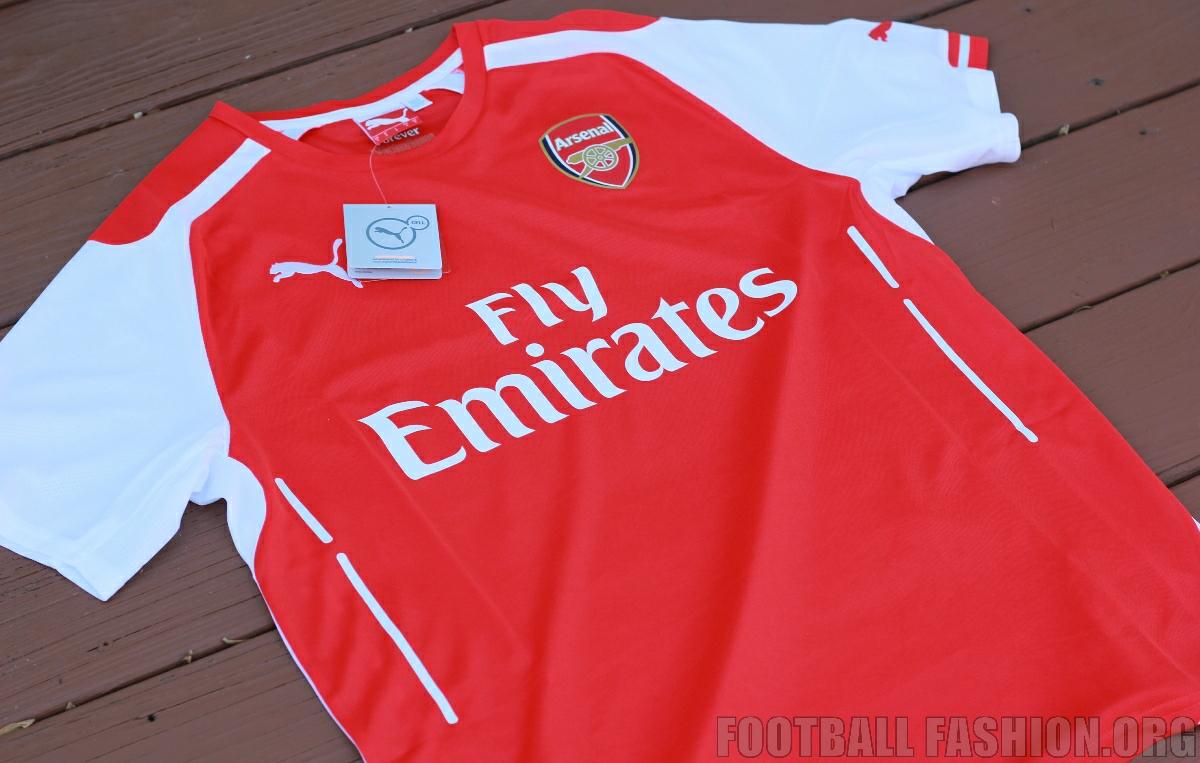 e00089869e8 Up-Close  Arsenal FC 2014 15 PUMA Home Jersey - FOOTBALL FASHION.ORG