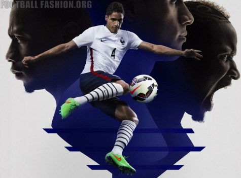 France 2015 2016 Nike Away Football Kit, Football Shirt, Soccer Jersey, Maillot