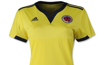 Colombia 2015 Women's World Cup adidas Home Soccer Jersey, Kit, Football Shirt, Camiseta Copa Mundial 2015
