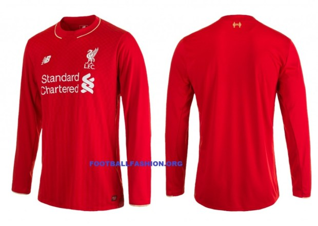 huge discount 77918 434d5 Liverpool FC 2015/16 New Balance Home Kit - FOOTBALL FASHION.ORG