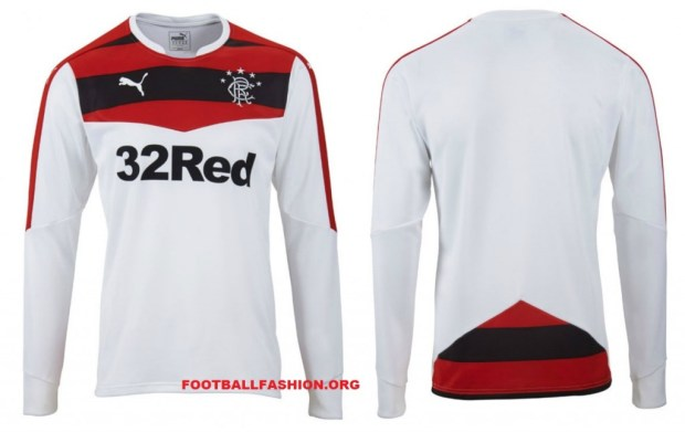 Rangers FC 2015/16 PUMA Home Football Kit, Soccer Jersey, Shirt