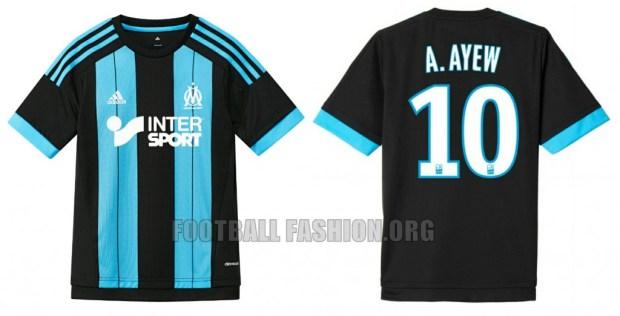 Olympique Marseille 2015 2016 adidas Away Football Kit, Soccer Jersey, Shirt, Maillot