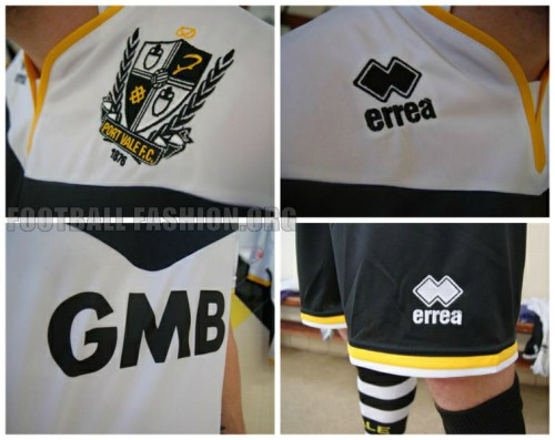 Port Vale FC 2015/16 Errea Home Football Kit, Soccer Jersey, Shirt