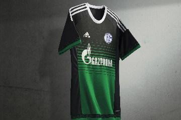FC Schalke 04 2015 2016 Green adidas Third Football Kit, Soccer Jersey, Shiirt, Trikot