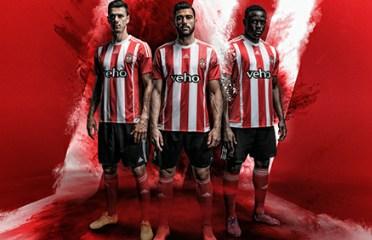 Southampton Football Club 2015 2016 adidas Home Football Kit, Soccer Jersey, Shirt, Camiseta