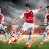 Arsenal Football Club 2015 2016 PUMA Red Home Kit, Shirt, Soccer Jersey, Camiseta, Maillot