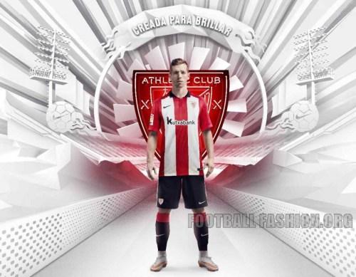Athletic Club de Bilbao 2015 Nike  2015 Home Soccer Jersey, Football Kit, Shirt, Equipacion de Futbol