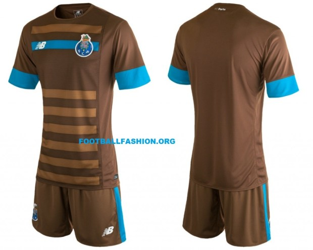 FC Porto 2015 2016 Brown New Balance Home Football Kit, Soccer Jersey, Shirt, Camisola, Camisa, Camiseta