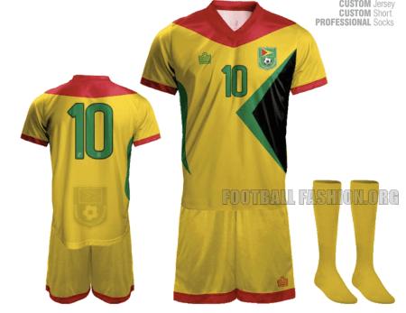 Guyana 2015 2016 Admiral Home and Away Football Kit, Soccer Jersey, Shirt