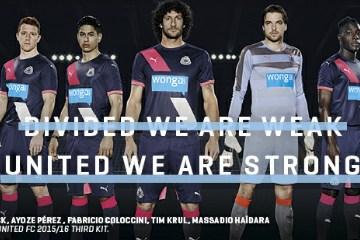 Newcastle United 2015 2016 PUMA Third Football Kit, Soccer Jersey, Shirt, Camiseta, Maillot
