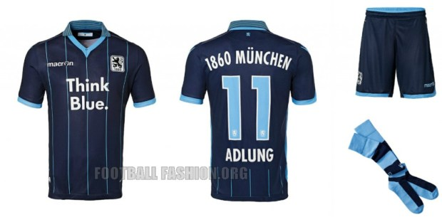 TSV 1860 München 2015 2016 Macron Home and Away Football Kit, Soccer Jersey, Shirt, Trikot