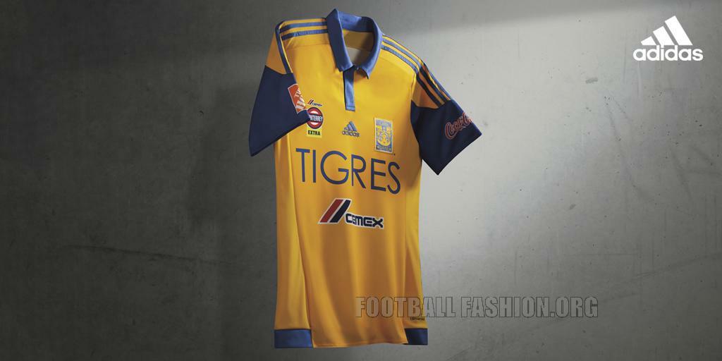 a28103701 Tigres UANL 2015 16 adidas Home and Away Jerseys – FOOTBALL FASHION.ORG