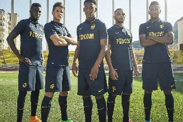 AS Monaco 2015 2016 Blue Nike Away Football Kit, Maillot, Soccer Jersey, Shirt
