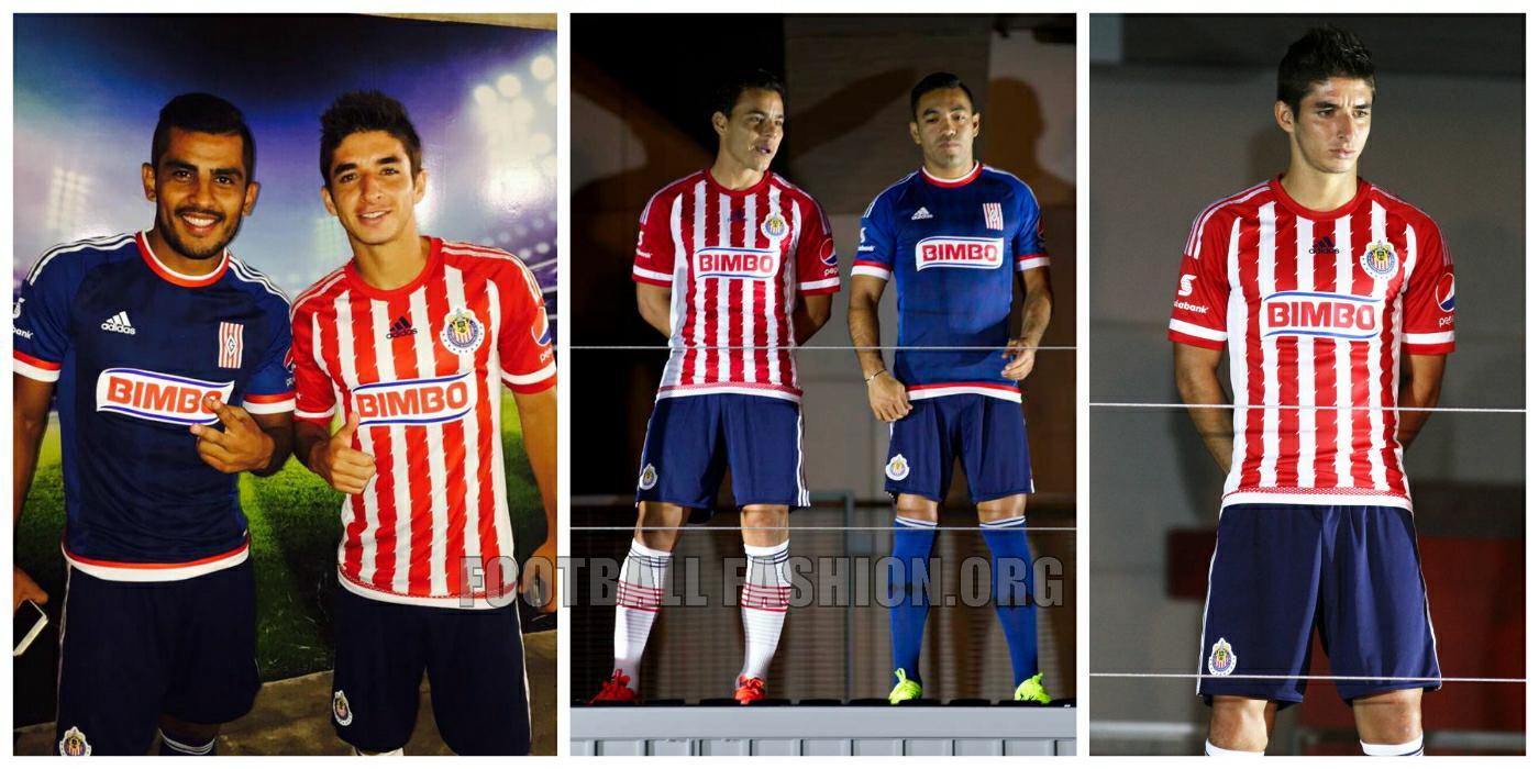 Chivas de Guadalajara 2015/16 adidas Home and Away Jerseys ...