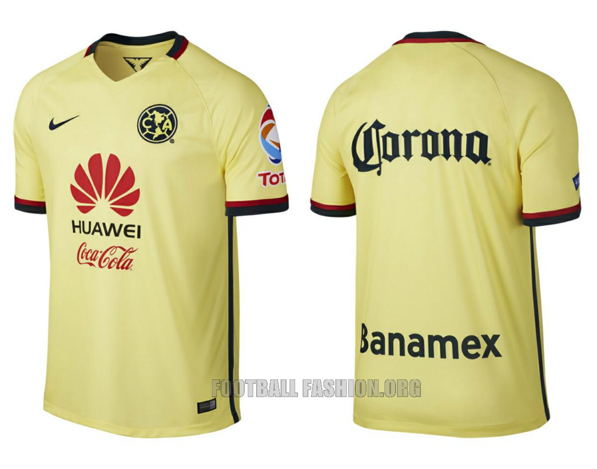 7109a847c ... America 15 16 Home Away soccer Jersey Club Américas away kit for their  Apertura 2015 and Clausura 2016 seasons using the same Nike ...