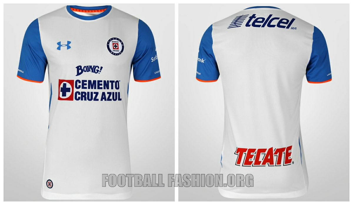 6425db2a Cruz Azul 2015 2016 Under Armour Home, Away and Third Soccer Jersey,  Football Shirt