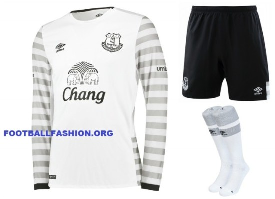 Everton Football Club 2015 2016 Umbro White Away Kit, Soccer Jersey, Shirt, Camiseta