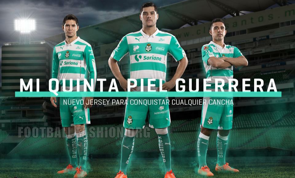 1db3b2ec862 Santos Laguna 2015/16 PUMA Home and Away Jerseys - FOOTBALL FASHION.ORG