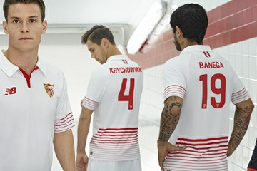 Sevilla Fútbol Club 2015 2016 New Balance Home, Away and Third Football Kit, Soccer Jersey, Shirt, Equipacion, Camiseta