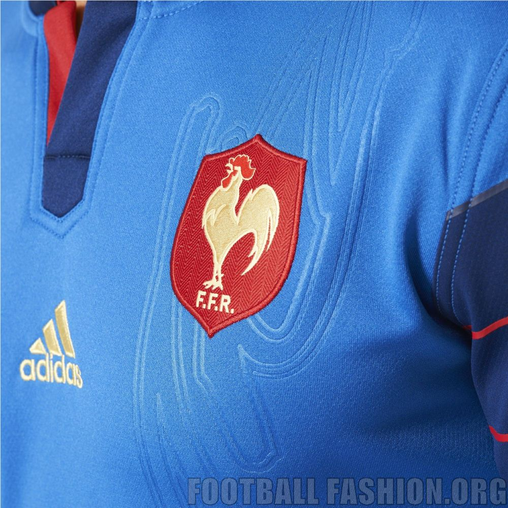 France 2015 Rugby World Cup adidas Home Kit - FOOTBALL