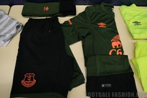 Everton Football Club 2015 2016 Green Umbro Third Kit, Soccer Jersey, Shirt, Camiseta, Maillot