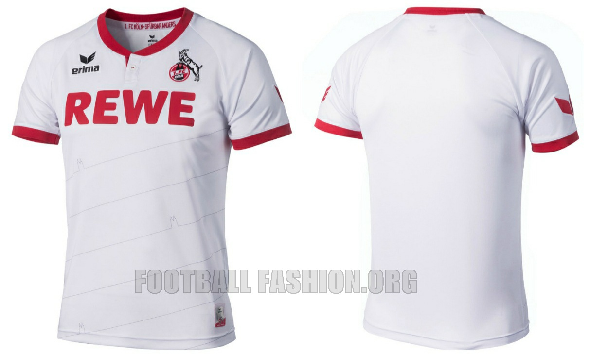 18a79c16dd6 It is accented in red via a henley collar and sleeve cuffs. 1. FC Köln 2015  2016 Erima Home