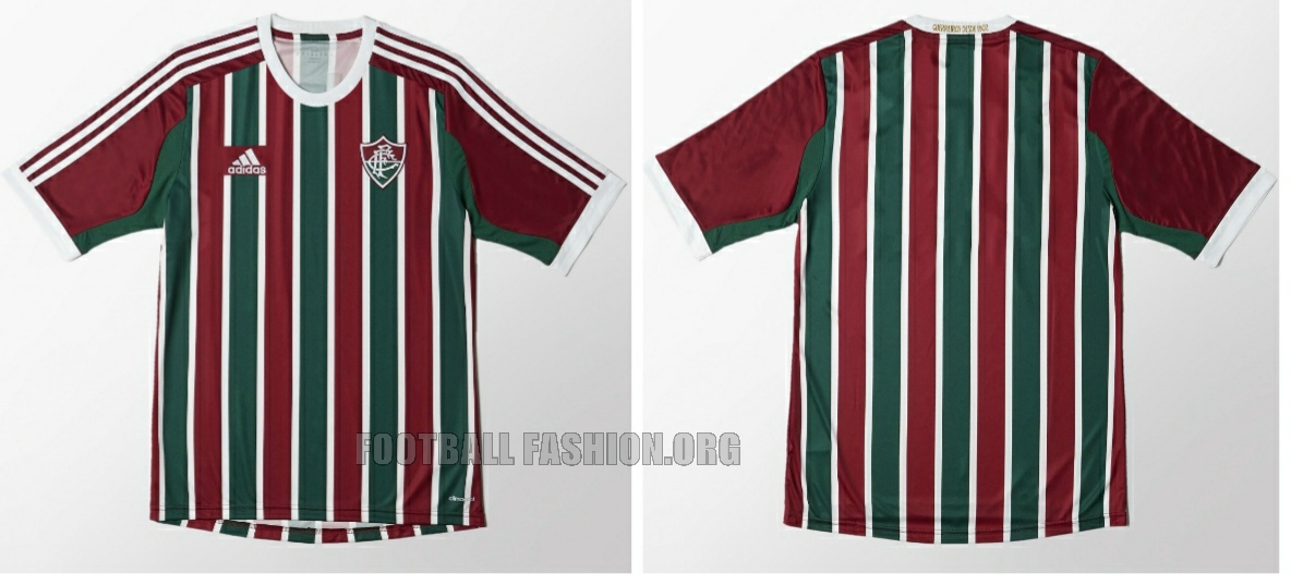 56d92db0fb Fluminense 2015 16 adidas Home and Away Kits – FOOTBALL FASHION.ORG