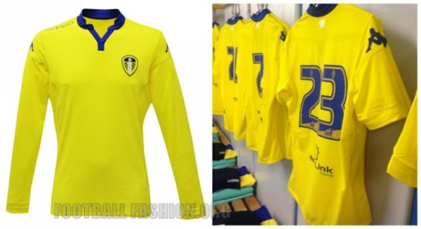 Leeds United Football Club 2015 2016 Yellow Kappa Away Kit, Shirt, Soccer Jersey