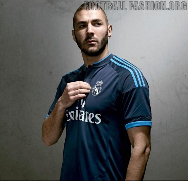 Real Madrid 2015 2016 adidas Dark Blue Third Football Kit, Soccer Jersey, Shirt, Camiseta de Futbol, Nueva Equipacion