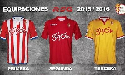 Sporting de Gijón 2015 2016 Kappa Home, Away and Third Football Kit, Soccer Jersey, Shirt, Camiseta, Equipacion