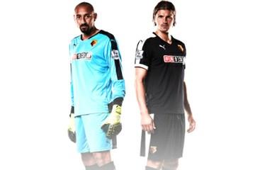 Watford Football Club 2015 2016 Black PUMA Away Kit, Soccer Jersey, Shirt