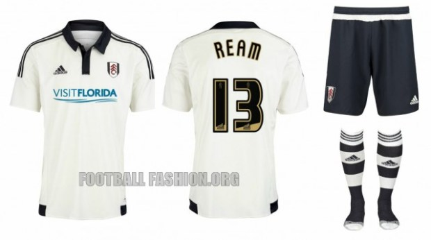 Fulham Football Club 2015 2016 adidas Home and Away Kit, Soccer Jersey, Shirt