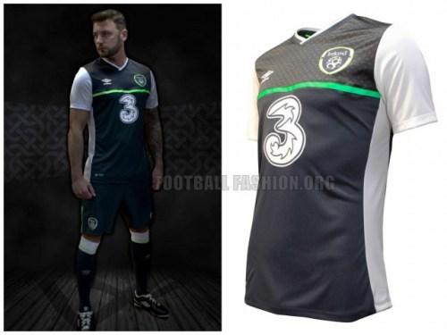 Republic of Ireland 2015 2016 Umbro Away Football Kit, Soccer Jersey, Shirt