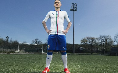 Italy 2015 2016 White PUMA Away Soccer Jersey, Shirt, Football Kit, Italia, Gara, Maglia, Camiseta, Camisa