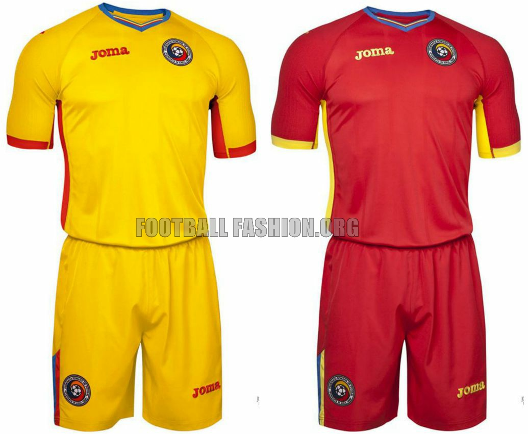 54eec7f10c0 Romania EURO 2016 Joma Home and Away Kits - FOOTBALL FASHION.ORG