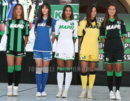 Sassuolo Calcio 2015 2016 Kappa Home and Away Football Kit, Soccer Jersey, Shirt, Maglia, Gara, Camiseta