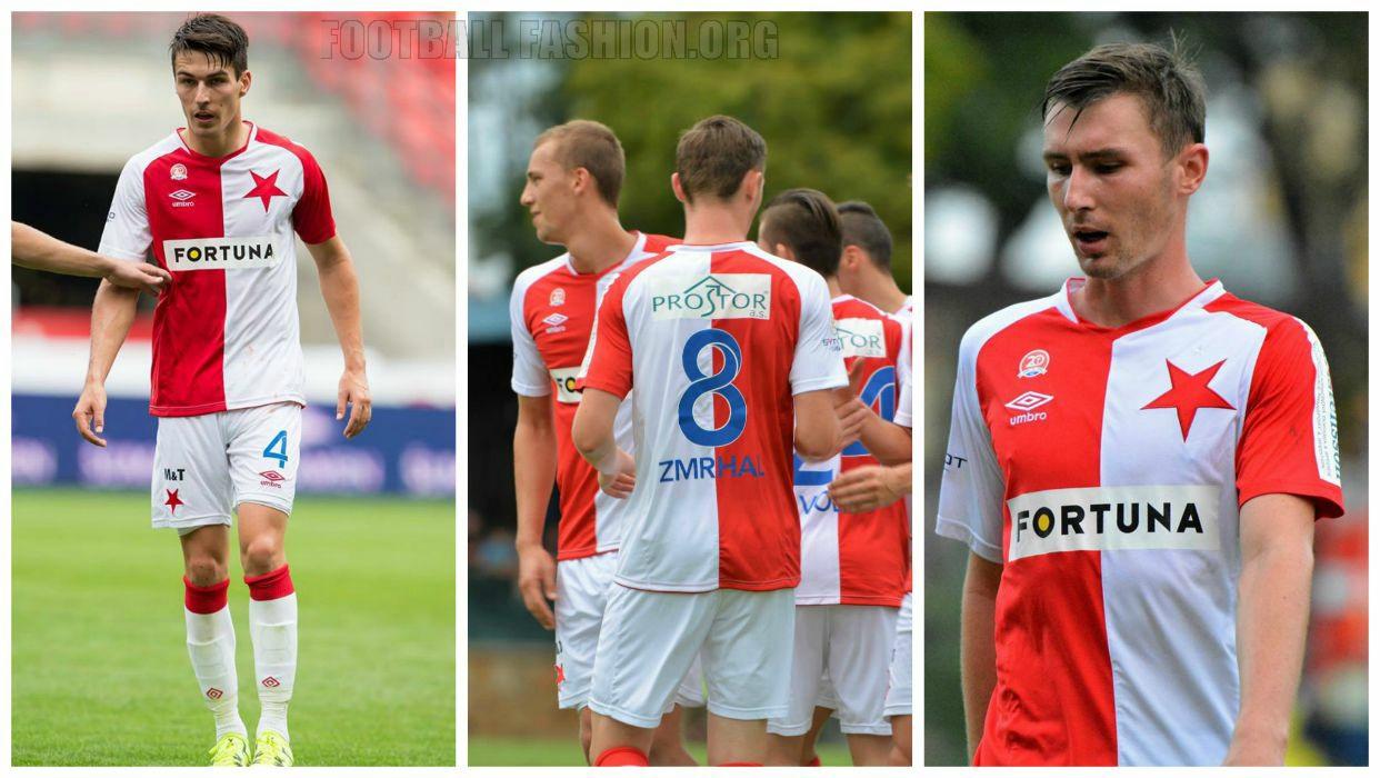 Slavie: Slavia Praha 2015/16 Umbro Home And Away Kits