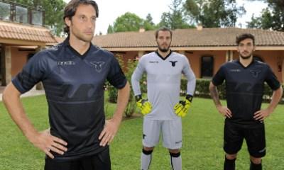 SS Lazio 2015 2016 Black Macron UEFA Europa League Away Football Kit, Soccer Jersey, Shirt, Gara, Maglia, Camiseta