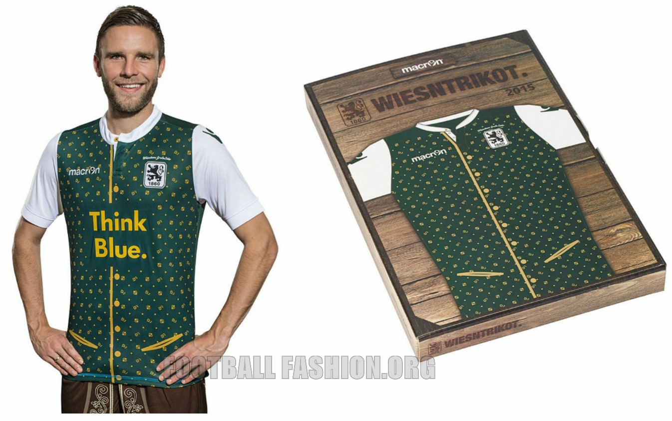 7def92b7c8 The new shirt will be worn for the club s 2. Bundesliga meeting with 1. FC  Kaiserslautern on September 19th. TSV 1860 München Macron 2015 Oktoberfest  ...