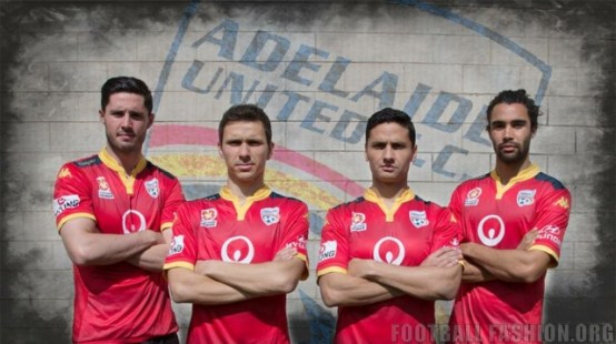 Adelaide United FC 2015 2016 Kappa Home, Away and Third Football Kit, Soccer Jersey, Shirt