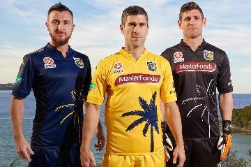 Central Coast Mariners 2015 2016 Kappa Home and Away Football Kit, Soccer Jersey Shirt