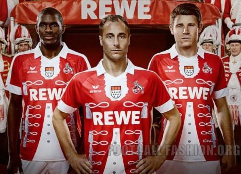 1. FC Köln Unveil 2015 Erima Karneval Football Kit, Soccer Jersey, Shirt, FC-Fastelovend-Trikot