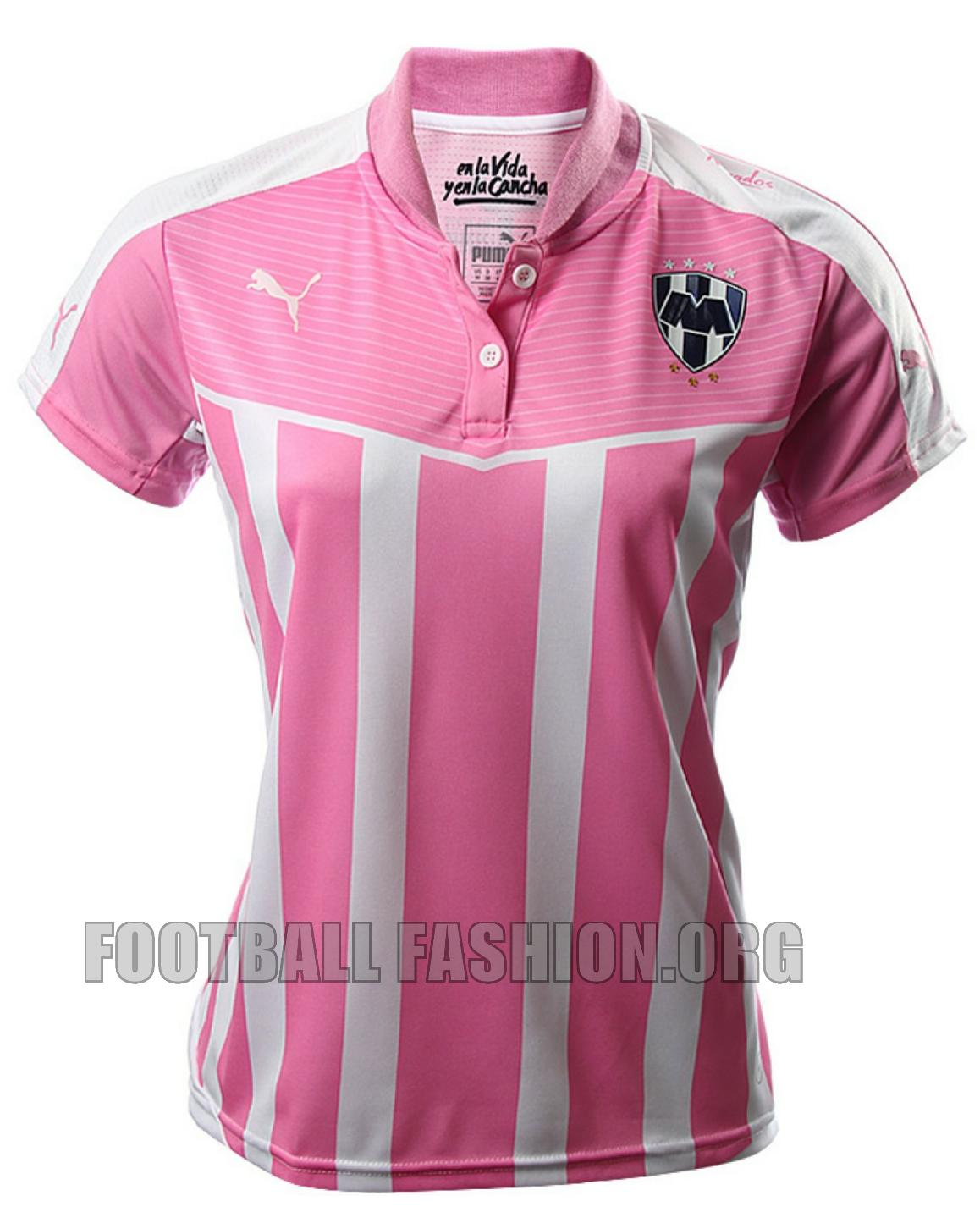 f48108891bf They use the same PUMA kit designs as the club's 2015/16 home jerseys but  have their sponsor logos removed. The PUMA Project Pink logo is embroidered  on the ...