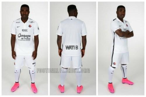 SM Caen 2015 2016 Nike Football Kit, Soccer Jersey, Shirt, Maillot