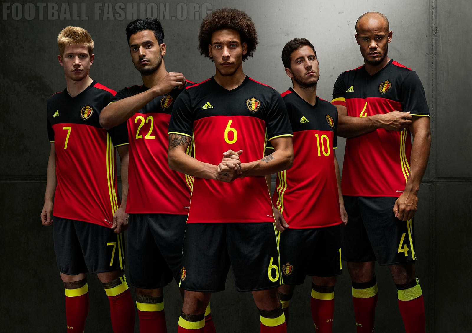 f1cbe9a5b Belgium EURO 2016 adidas Home Kit - FOOTBALL FASHION.ORG