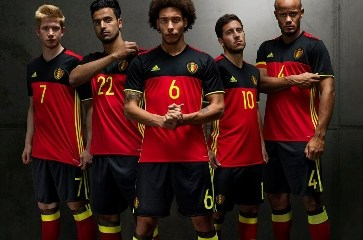 Belgium EURO 2016 Red adidas Home Soccer Jersey, Shirt, Football Kit, Maillot, Tenue, Thuisshirt