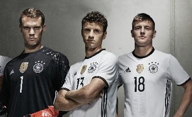 Germany EURO 2016 adidas White Home Soccer Jersey, Football Kit, Shirt, Trikot, Heimtrikot EM